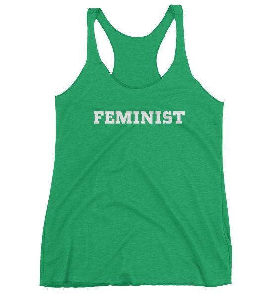 "Femen Woman's Tank Top ""Feminist Dark"""
