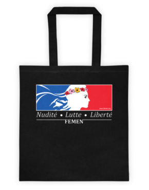 "Femen Bag ""Nudite Lutte Liberte Dark"""