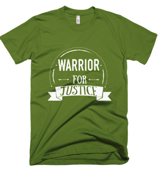 "Femen Man's T-Shirt ""Warrior For Justice Dark"""