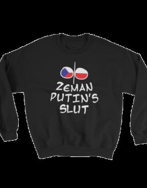 "Femen Sweatshirt ""Zeman Putin's Slut"" Dark"